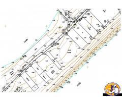Оцифровка (векторизация) карт, топографических планов.